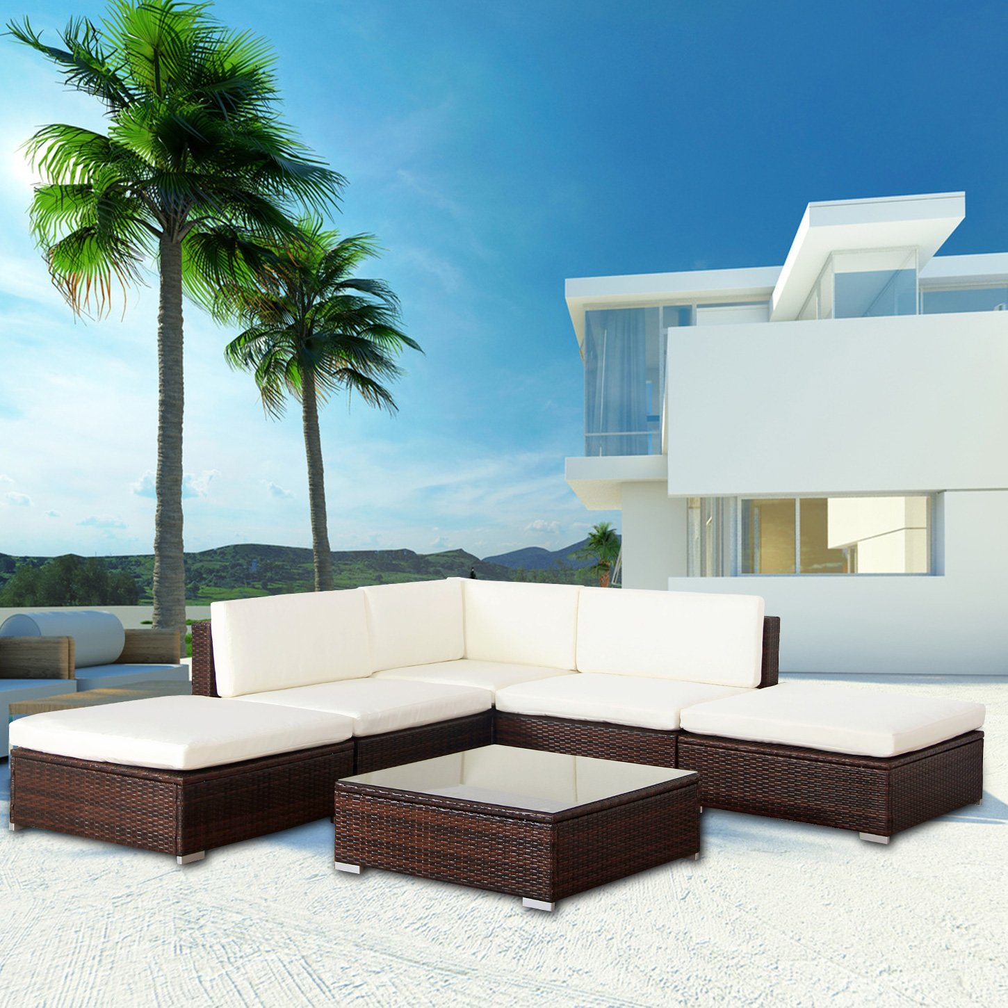 mali poly rattan lounge braun aluminium sofa garnitur polyrattan gartenm bel g nstig online kaufen. Black Bedroom Furniture Sets. Home Design Ideas