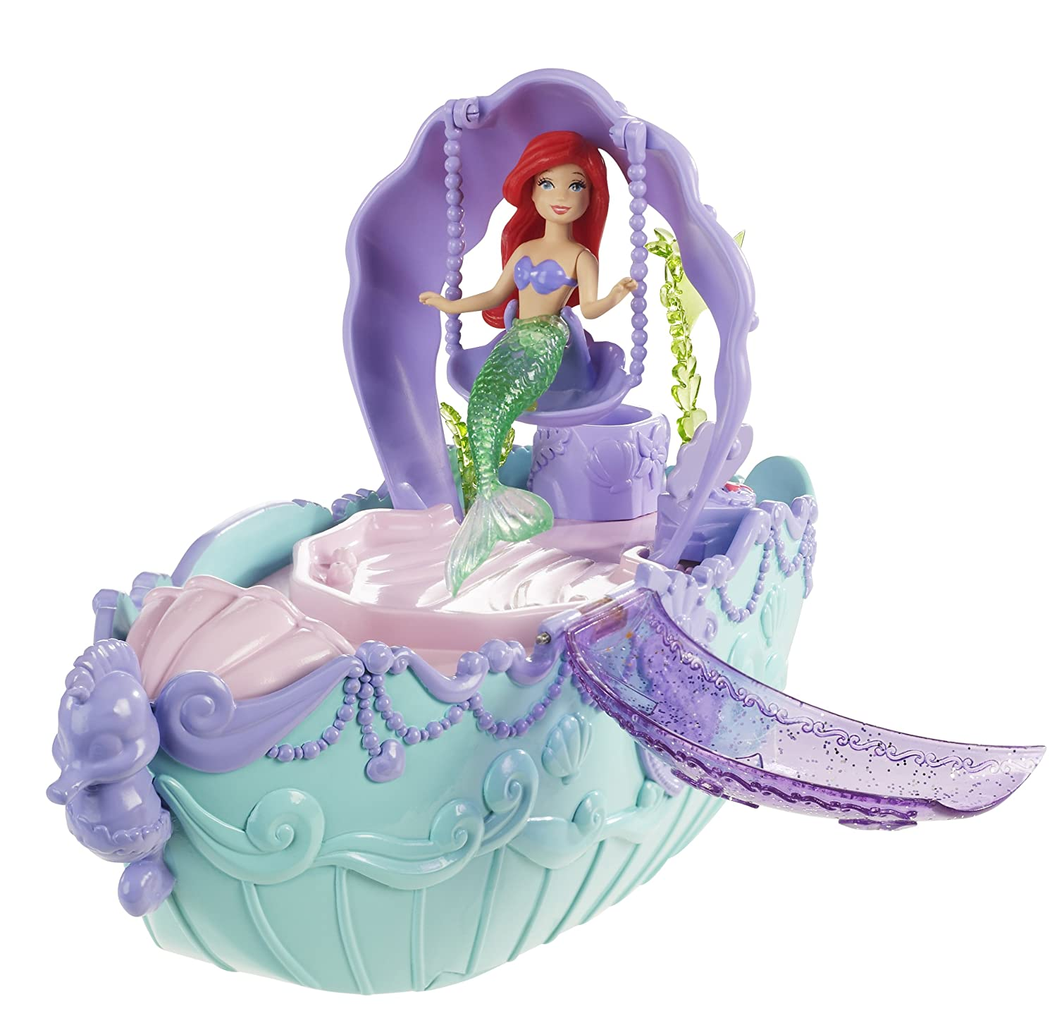 Disney Princess Ariel Fountain and Bubble Boat Playset