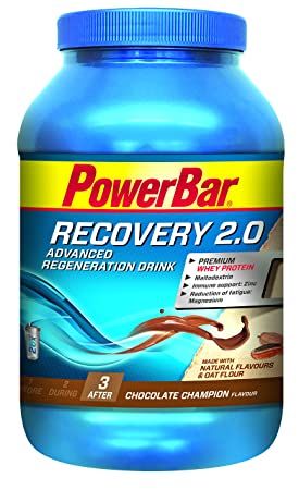 PowerBar Recovery 2.0 Chocolate Champion, Advanced Regeneration Drink, 1er Pack (1 x 1.144 kg)