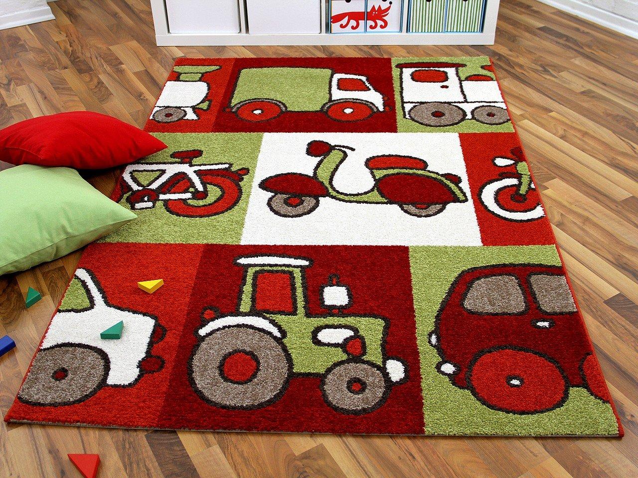 Kinder und Spielteppich Softstar Motors Rot in 3 Größen    Kritiken und weitere Informationen