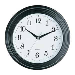 Premier Housewares - Reloj de pared (26 cm), color negro   Más información y comentarios de clientes