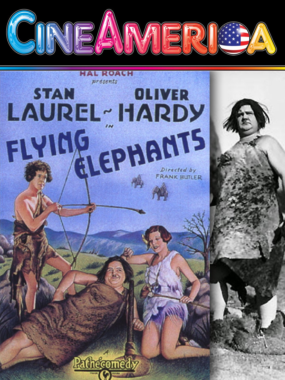 "Laurel and Hardy ""Flying Elephants"""