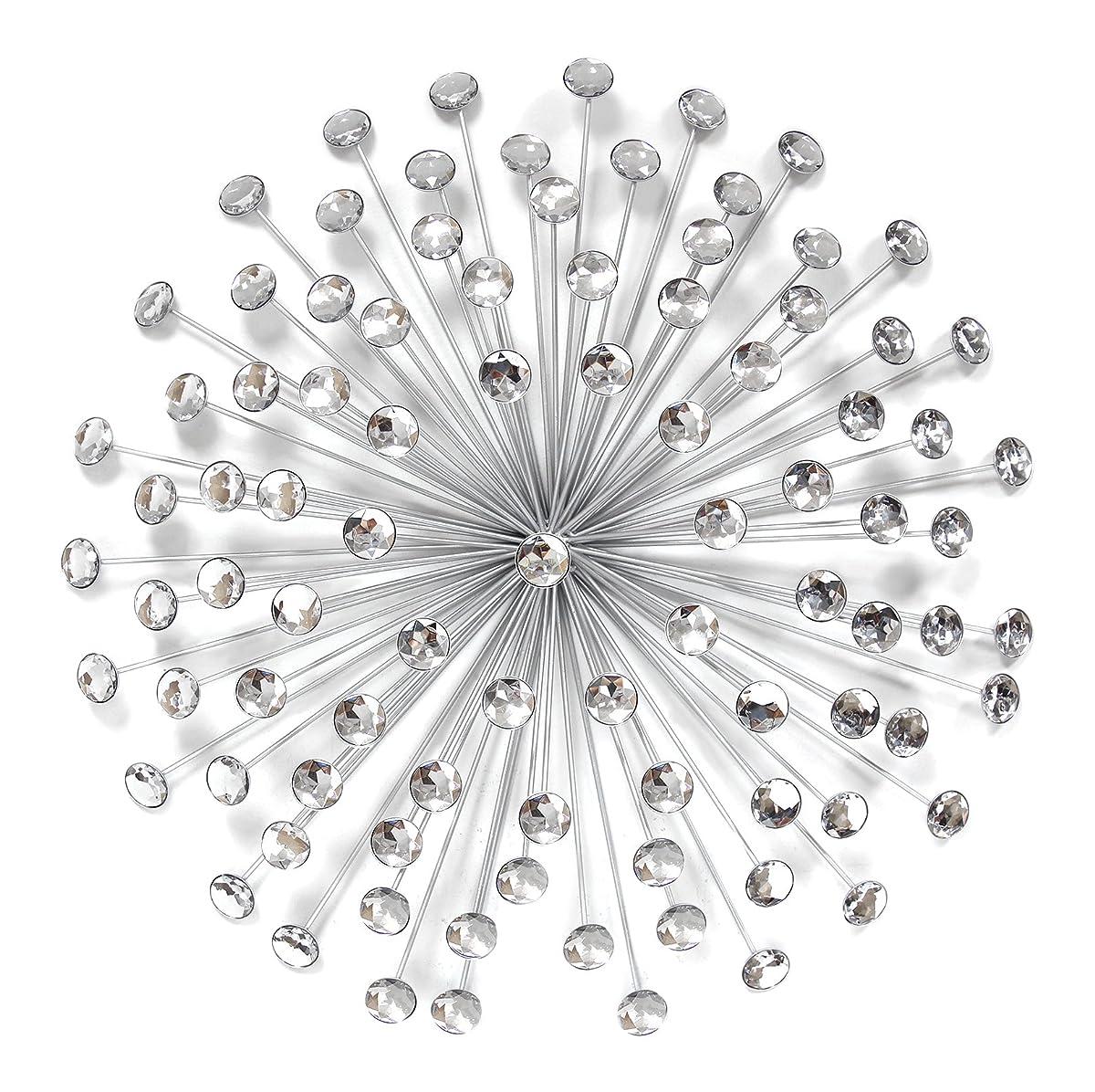stratton home decor shd0192 acrylic burst wall decor 24 silver 24. Black Bedroom Furniture Sets. Home Design Ideas