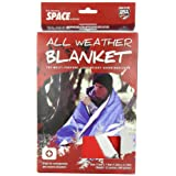 Grabber Outdoors Original Space Brand All Weather Blanket:, 5'x7', Red