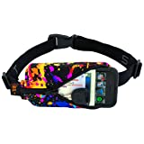 SPIbelt Running Belt: Original - No-Bounce Running Belt for Runners, Athletes and Adventurers (Rave with Black Zipper, 24