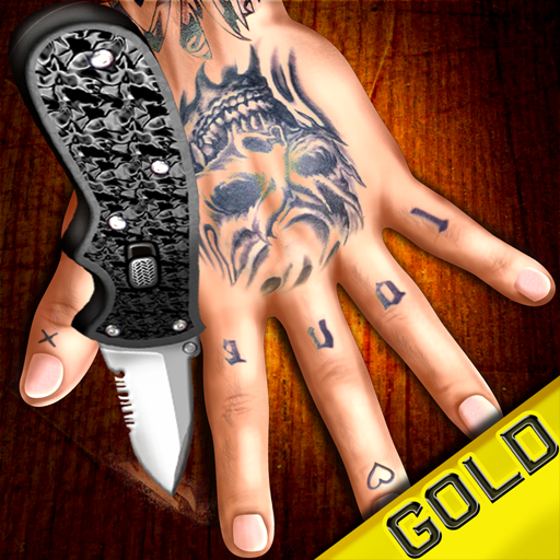 Finger Crash - The Rusty Cage ' Knife Game Song ' Official Game Gold