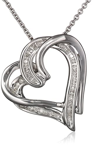 Sterling-Silver-and-Diamond-Double-Heart-Pendant-Necklace-1-10-cttw-18-