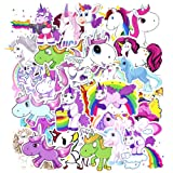 50 Pcs Unicorns Laptop Stickers, Car Bumper Stickers for Motorcycle Luggage Vinyl Graffiti Bomb Decal Skateboards Snowboard Awesome Travel Sticker Pack (Color: 50 Pcs Unicorns, Tamaño: 1.6-4.1 inch)