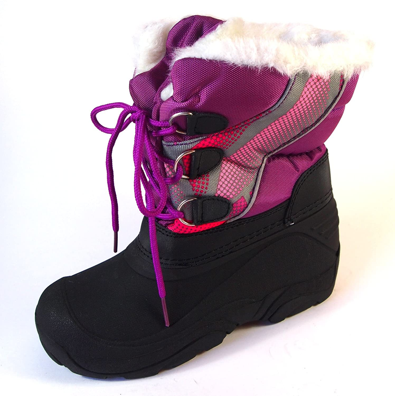 Makotex Mädchen Winter Stiefel Gr.30-35 Lila Snowboots Teddyfutter jetzt bestellen