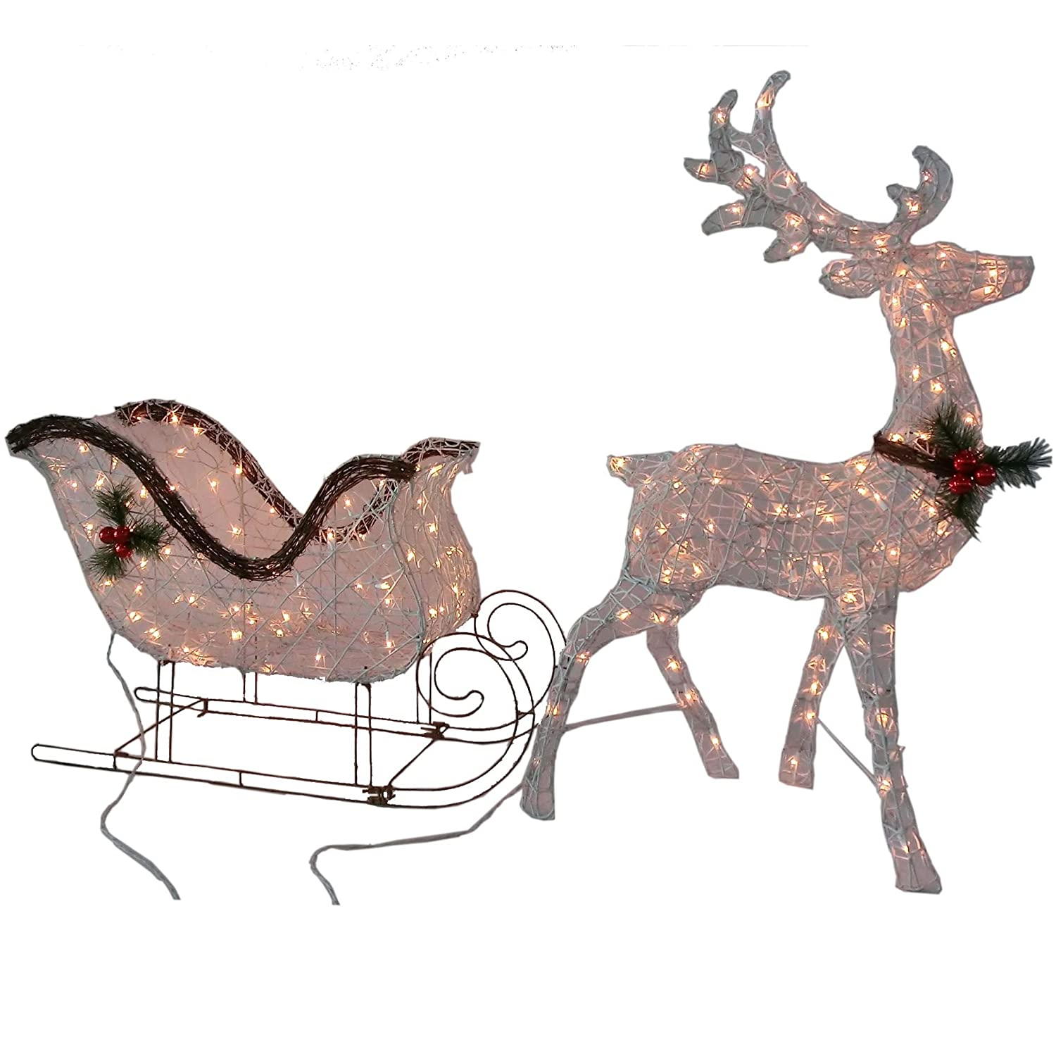 Patio lawn garden christmas gifts library for Outdoor reindeer decorations