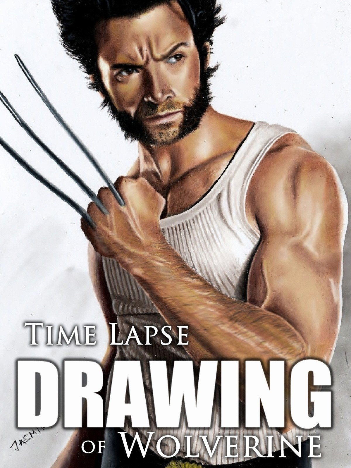 Clip: Time Lapse Drawing of Wolverine