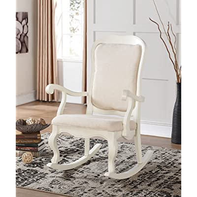 ACME Furniture 59388 Sharan Rocking Chair, Antique White