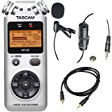 Tascam DR-05 Portable Handheld Digital Audio Recorder (Silver) with Deluxe Accessory Bundle (Color: Silver, Tamaño: Basic)