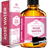 Rose Water Facial Toner by Leven Rose, 100% Pure Natural Moroccan Rosewater Hydrosol Face Spray 4 oz (Tamaño: 4 oz)
