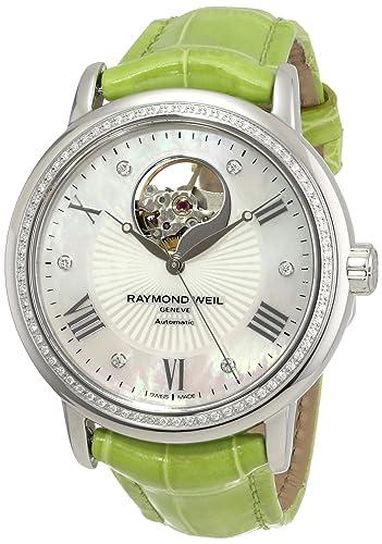 Raymond Weil Women's 2827-LS5-00966 Maestro Analog Display Swiss Automatic Green Watch