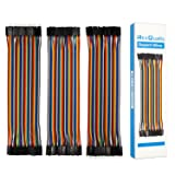 REXQualis 120pcs Multicolored Dupont Wire Kit 40pin Male to Female, 40pin Male to Male, 40pin Female to Female Breadboard Jumper Wires Ribbon Cables Kit for Arduino/DIY/Raspberry Pi 2 3 (Pack of 120) (Color: 120pcs Dupont Wire(40pin M/F,40pin M/M,40pin F/F))