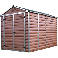 Palram SkyLight Shed 6x10ft Durable Storage (Amber)