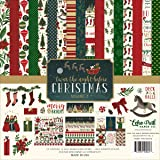 Echo Park Paper Company Night Before Christmas Collection Kit Vol. 2 (Color: Red, Green, Cream, Tamaño: 12-x-12-Inch)