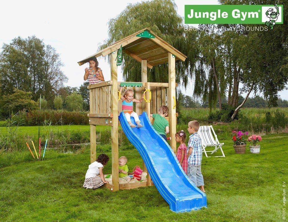 Spielturm Jungle Gym Club Set mit Feuerwehrstange Sandkasten Kletterturm – Jungle Gym (inkl. Holzpaket) günstig online kaufen