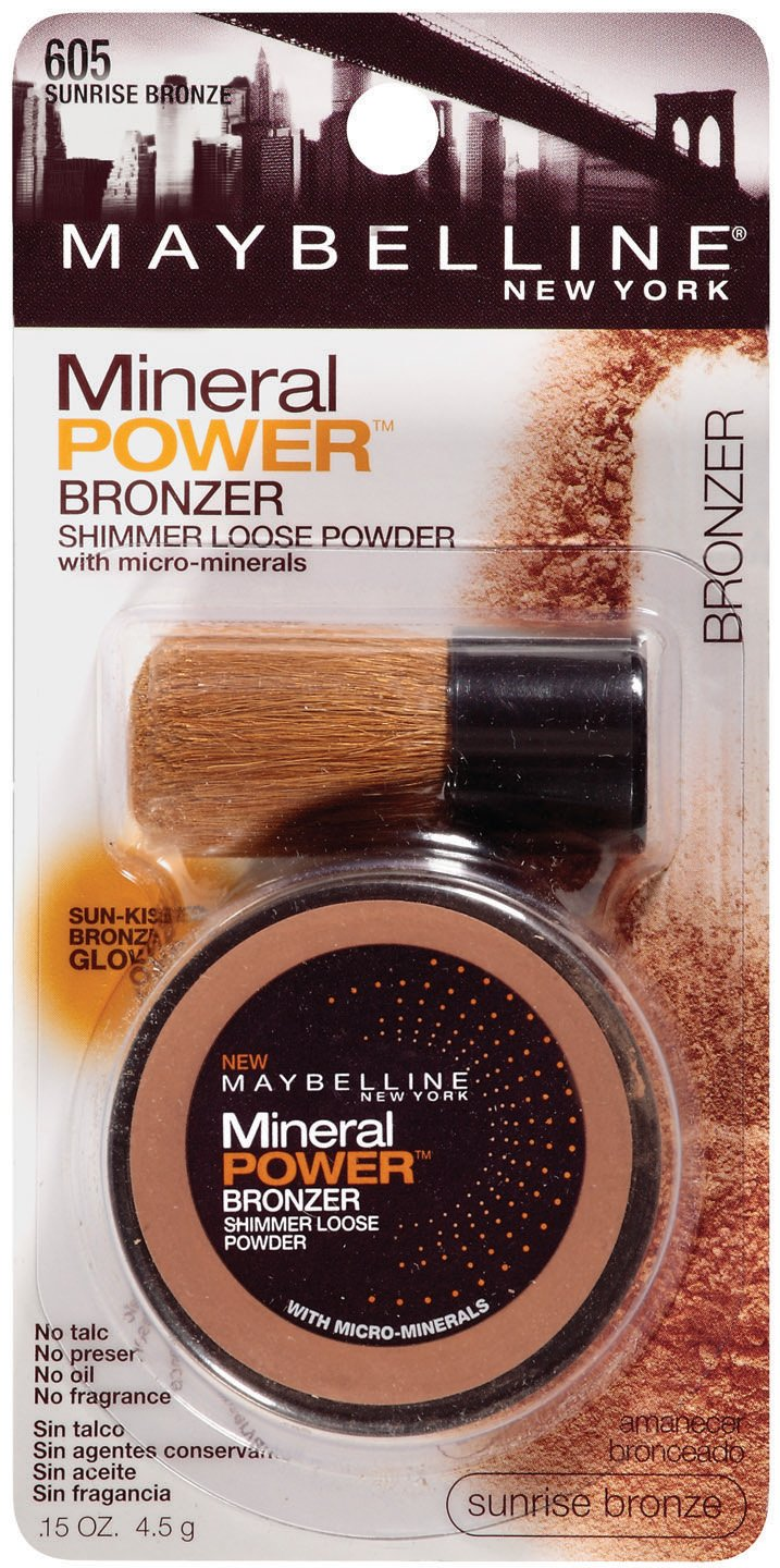 Maybelline New York Mineral Power Bronzer Shimmer Loose Powder, Sunrise Bronze 605, 0.15 Ounce $2.45