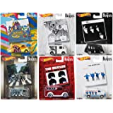 Hot Wheels Covers Beatles Album Pop Culture Bundled with Yellow Submarine / Volkswagen VW Bus / A Hard Days Night / GMC Van Help! / Revolver 6-Cars (Color: Multi)