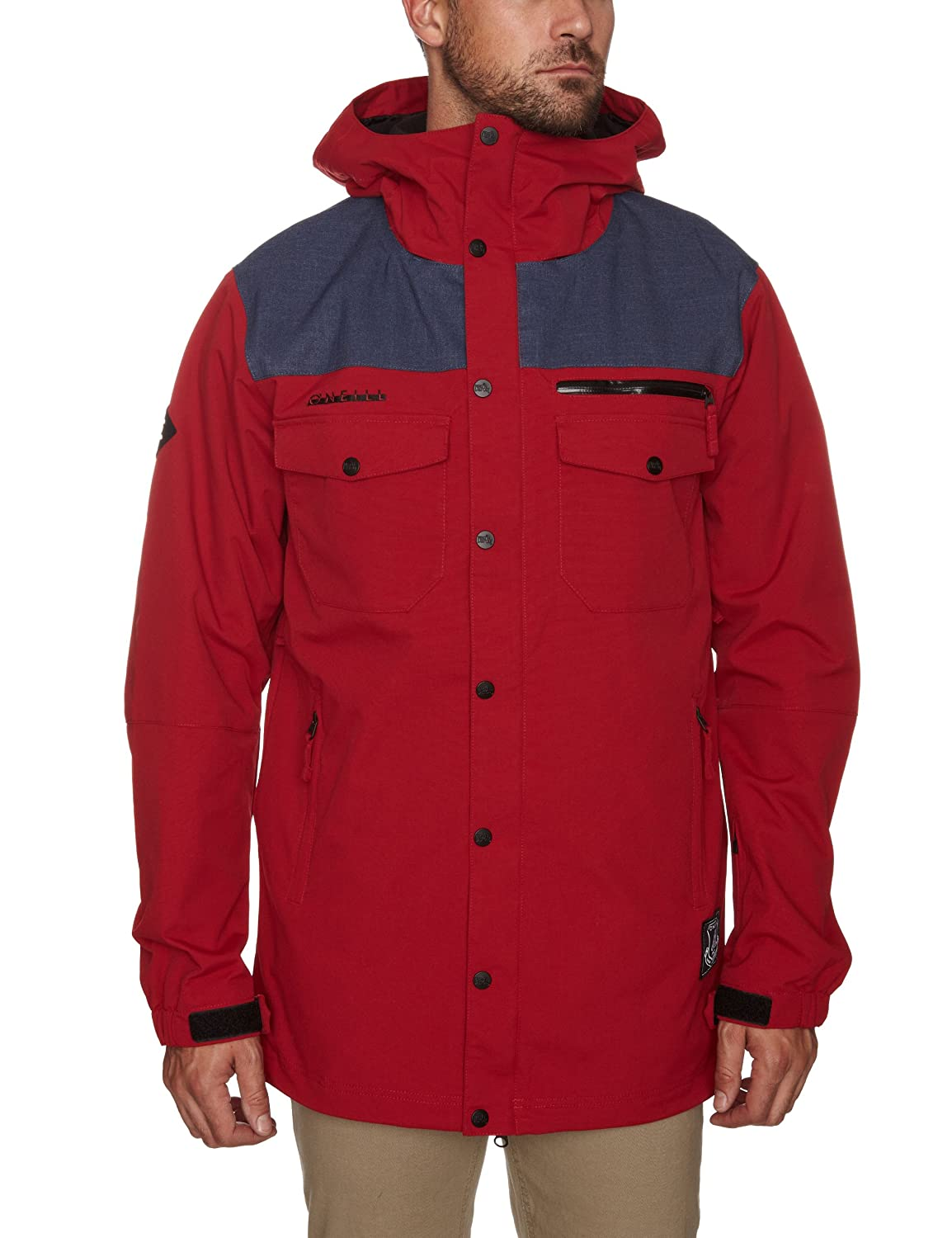 O'Neill Freedom Button Up Snowboard-Jacke – Rio Rot günstig