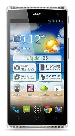 Acer HM.HD9EG.001 Smartphone débloqué Micro-USB A, Bluetooth Android Blanc