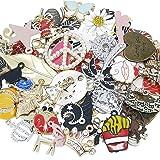 Chenkou Craft Wholesale 50pcs Lots Mix Alloy Resin Rhinestone Flowers Pendants Charms Beads Bracelet Necklace Jewelry Findings-Halloween Christmas Mother's Day Valentine's Day (Random 50pcs) (Color: Random 50pcs, Tamaño: Mix)