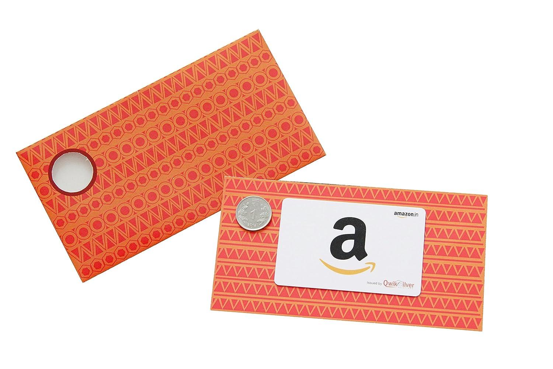 Amazon Gift Card Orange Shagun Envelope