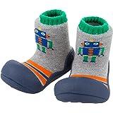 Attipas Baby First Walker Shoes (Medium, Robot Navy) (Color: Robot Navy, Tamaño: Medium)