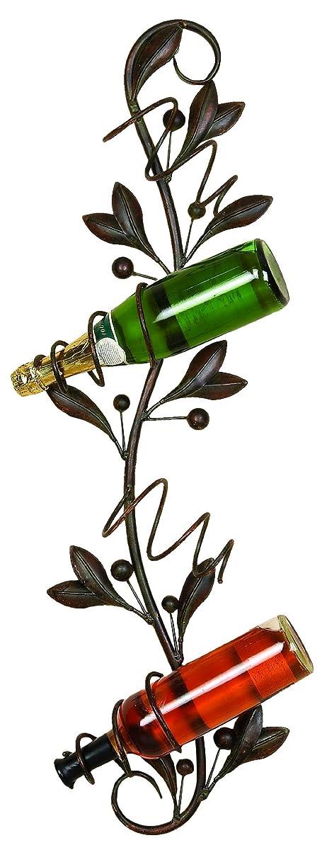"Deco 79 99506 Metal Wall Wine Holder 35""H, 10""W"