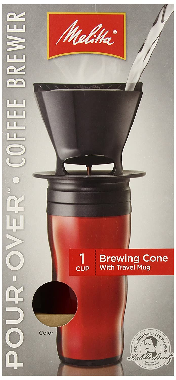 Melitta Coffee Maker, Single Cup Pour-Over Brewer with Travel Mug, Red (Pack of | eBay