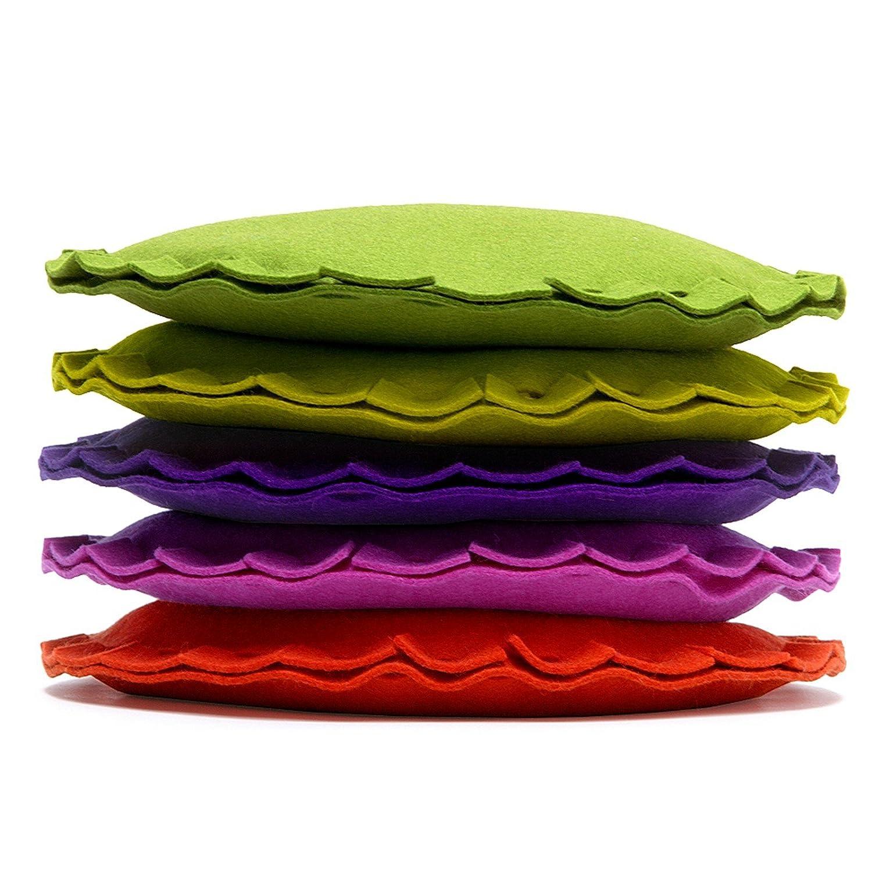 Dekokissen Kissen rund Filz viele Farben Hey Sign PAI, Hey Sign_Farbe:22 - Flieder
