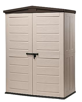 chalet jardin 12 665623 armoire armoire de rangement pour jardin pvc beige marron 1800 1800. Black Bedroom Furniture Sets. Home Design Ideas