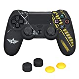 Warfare Silicone Cover Skin Pack for Sony PS4/DualShock 4 Controller, Customized Silicone Case, 2 High-rise Thumb Grips, 2 Low-rise Thumb Grips - Warfare Edition