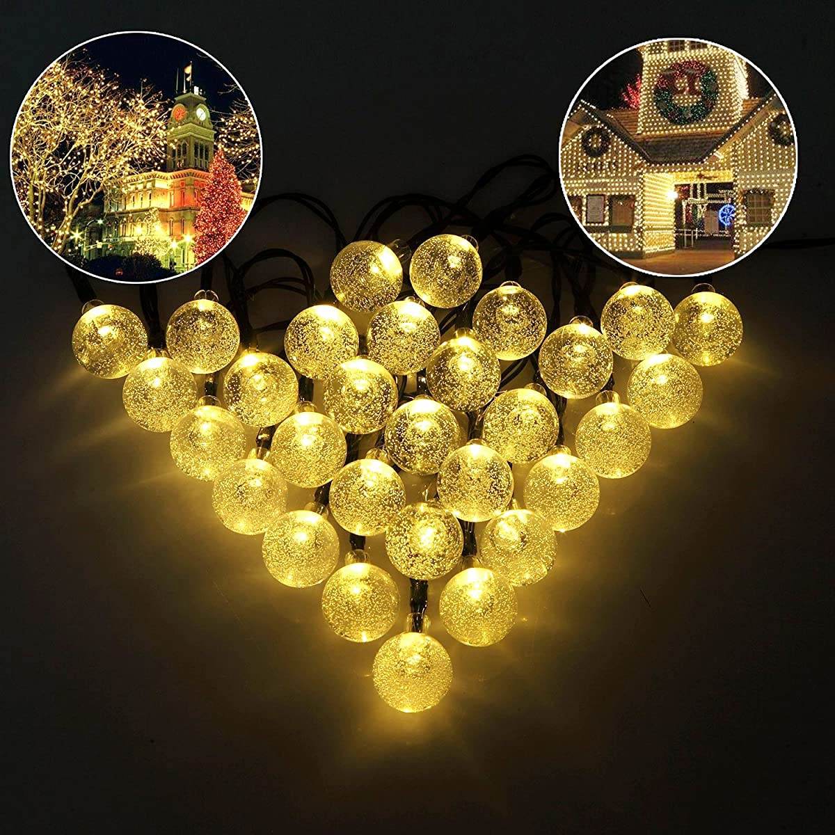 Globe string lights cmyk 20 ft 30 crystal balls waterproof led globe string lights cmyk 20 ft 30 crystal balls waterproof led fairy lights outdoor starry lights solar workwithnaturefo