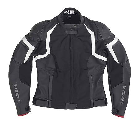 Racer 12383 jEREZ cuir femme-textile-veste-noir-taille 40