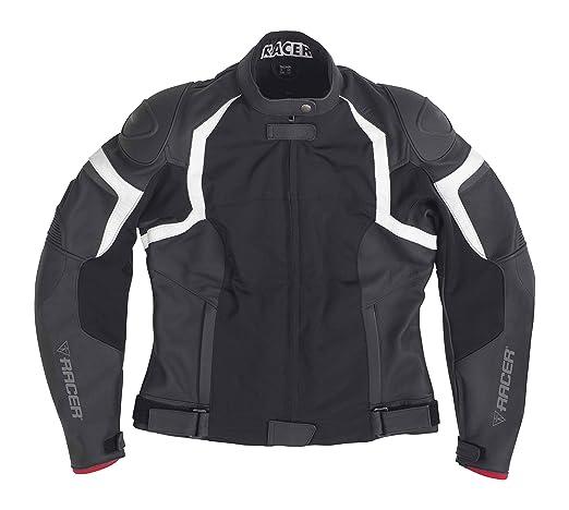 Racer 12343 jEREZ cuir-textile-veste-noir-taille 52
