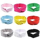 Baby Girls Toddler Infant Newborn Headband Hair bands Turban Head Wrap Knotted Hair Band … (Knot headband) (Color: Knot Headband, Tamaño: Middle)