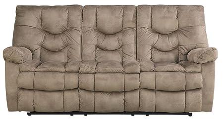 Karolek Pecan Reclining Sofa