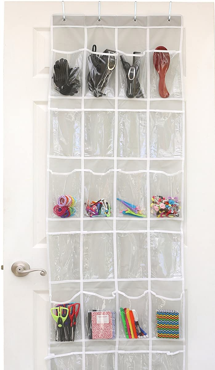 24 Pockets Simplehouseware Crystal Clear Over The Door Hanging