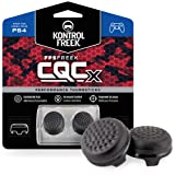 KontrolFreek CQCX Thumb Grips for PlayStation 4 Controller (PS4) | 2 Mid-Rise Convex Performance Thumbsticks | Black