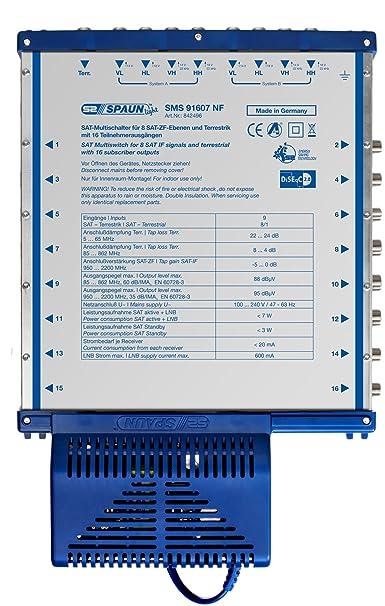 Spaun SMS 91607 NF Commutateur multiple compact Pour 16 récepteurs (Import Allemagne)