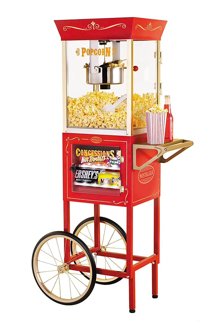 Nostalgia CCP610 59-Inch Tall Vintage Collection 8-Ounce Kettle Popcorn & Concession Cart 0