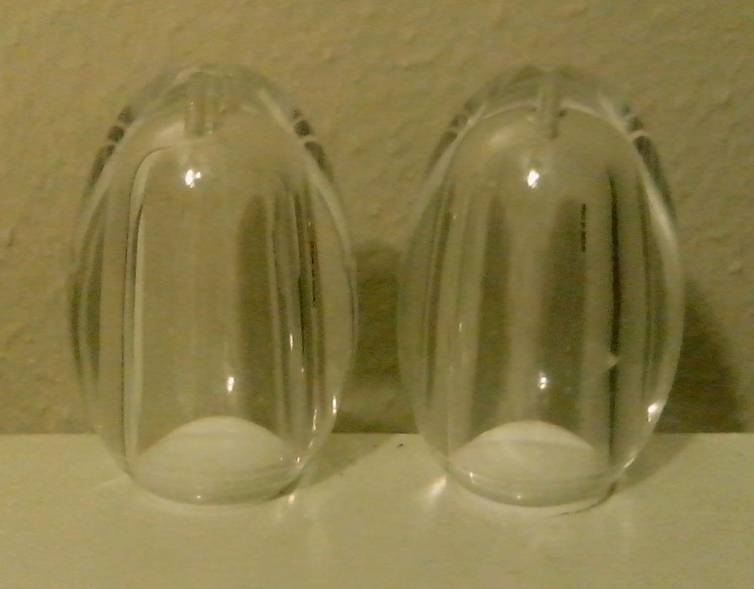 Acrylic Just Like Egg Shakers (Set of 2), 2.0 x 3.0, by William Bounds just william