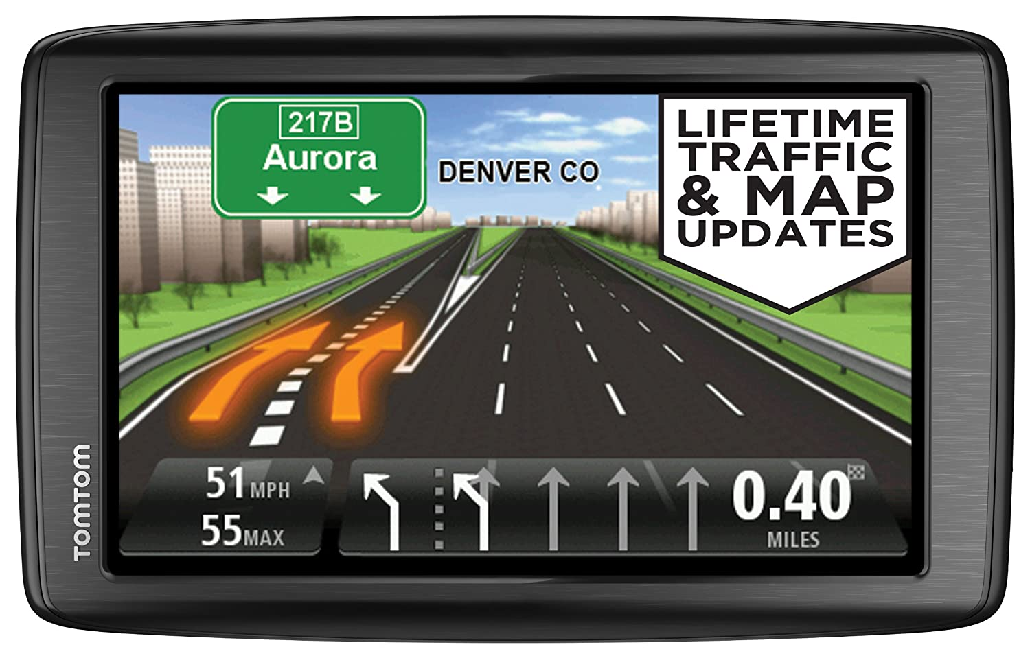 brand new tomtom via 1605tm 6 inch gps navigator with lifetime traffic maps. Black Bedroom Furniture Sets. Home Design Ideas
