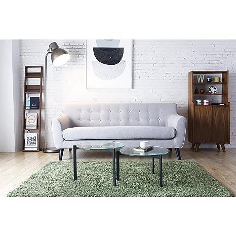 El Helga: sofá escandinavo 3plazas gris claro