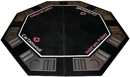 Cartamundi - 108035327 - Jeu de Société - Diamond Poker - Table Top Poker - Capacité 8 Joueurs - Pliage x4 - Housse de Transport - 120 x 120