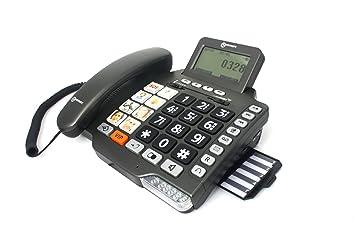 Geemarc photophone155 anthracite t l phone t l phone - Telephone filaire avec repondeur integre ...