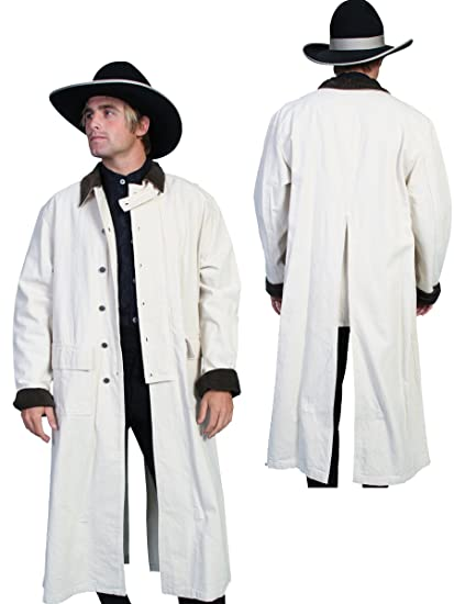 Rangewear By Scully Mens Long Canvas Duster  AT vintagedancer.com